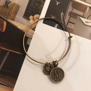 "Alex & Ani Bronze ""M"" Bangle Bracelet"